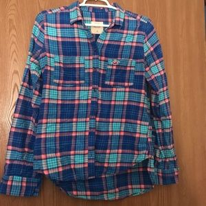 Hollister plaid flannel shirt